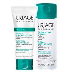 URIAGE - Pack Hyséac Máscara Peel-off 50 ml y Agua Micelar Piel Mixta a Grasa 100 ml