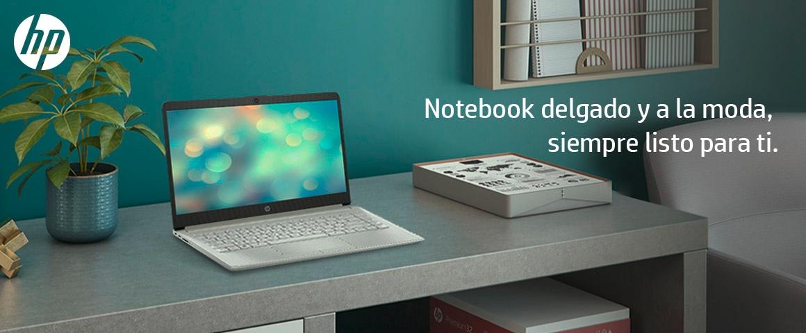 Notebook delgado y a la moda, siempre listo para ti.