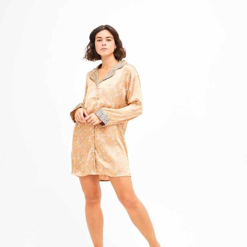 LOUNGE - Camisa De Dormir Mujer Tigres Cobre