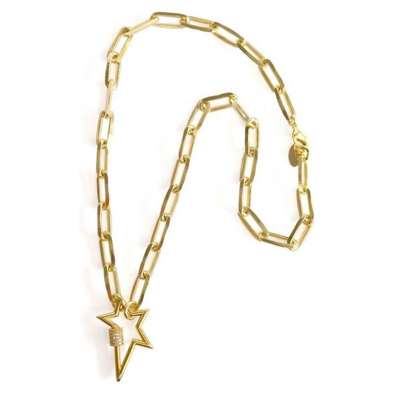 LA BENDITA JOYA - Collar Eslabon Grueso Broche Estrella