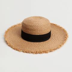 MANGO - Sombrero de Paja Cinta Lady Mujer
