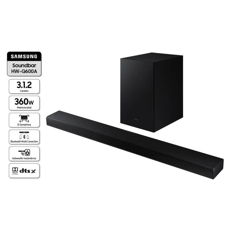 SAMSUNG - Soundbar HW-Q600A 3.1.2ch