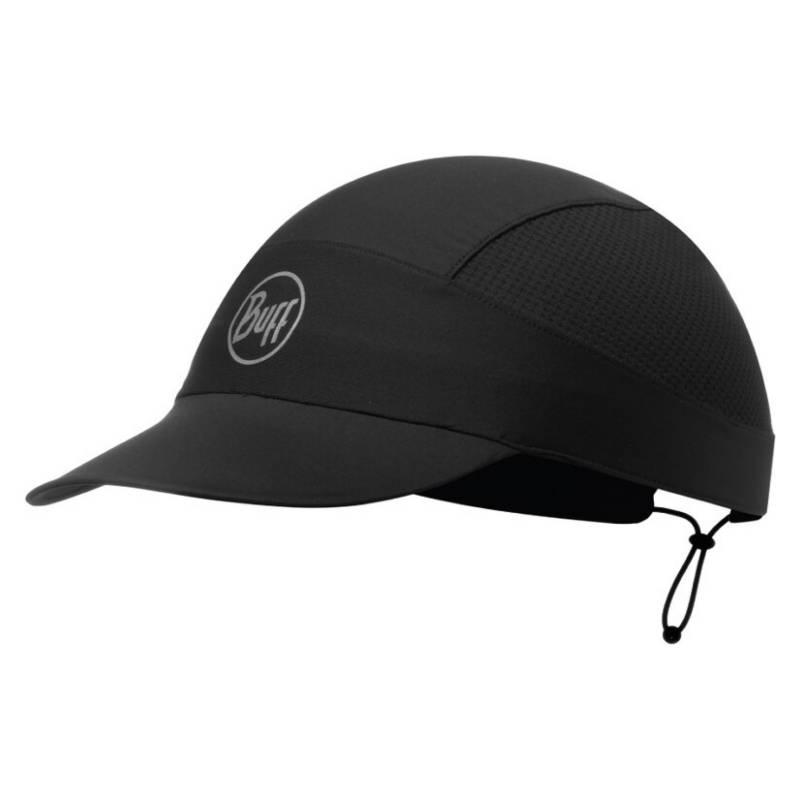 BUFF - Jockey Pack Run Cap  R-Color Negro