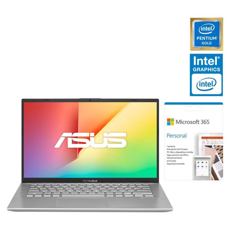 """ASUS - Vivobook 14 X412FA-EB1261TS Intel Pentium Gold 4GB RAM 128GB SSD Graficos Intel UHD 610 14"""""""