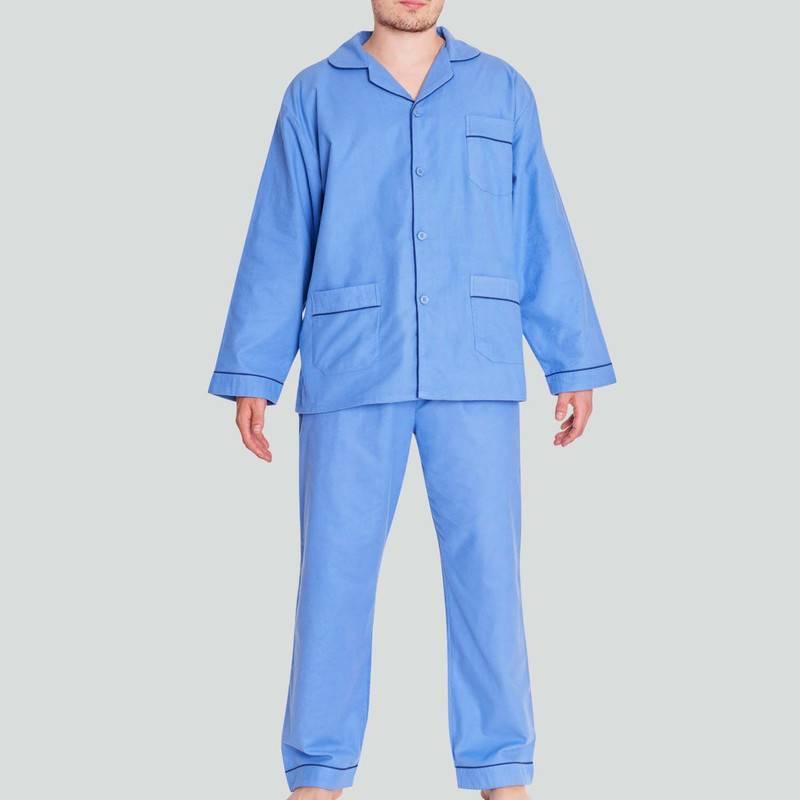 BAZIANO - Pijama Franela Algodón Con Botones Baziani