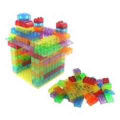 SEIGARD - Bloques Tipo Lego Translúcidos 90 Piezas