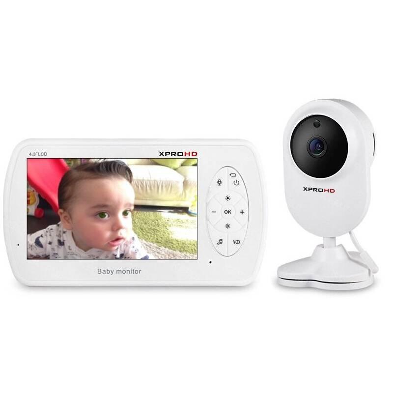 XPROHD - Camara Monitor Bebé 4.3 Audio Vision Nocturna Fhd