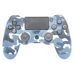 NJOYTECH - Control Gamepad Ps4 Camuflado Azul Inalambrico