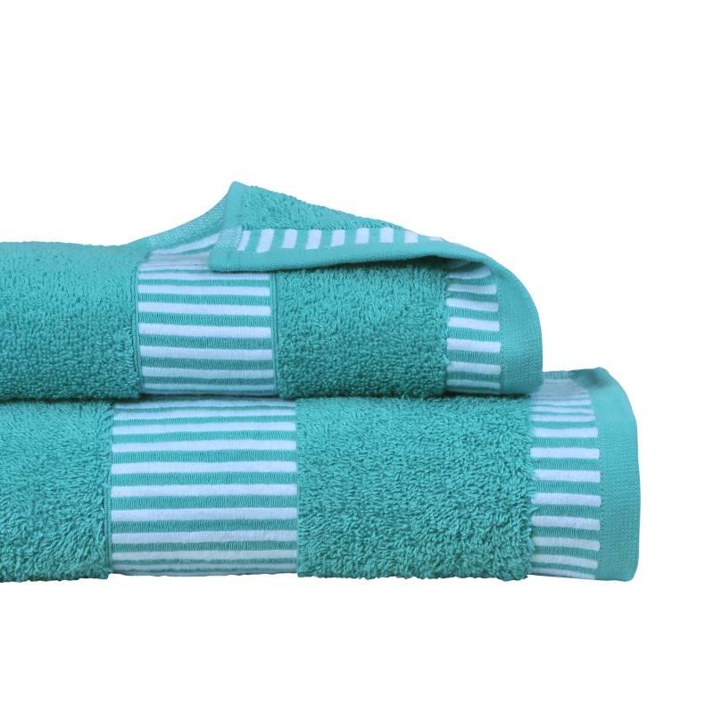 MASHINI - Set 2 toallas 460  Egyptia Turquesa