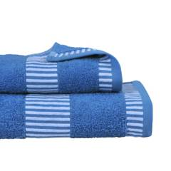 MASHINI - Set 2 toallas 460 Egyptia Azul