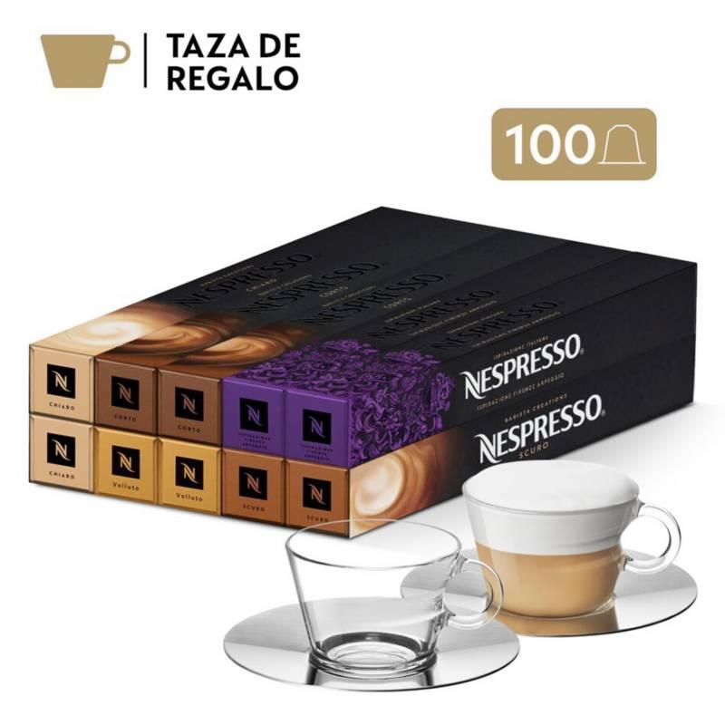 NESPRESSO - Pack 100 Desayuno  Set De Tazas De Regalo