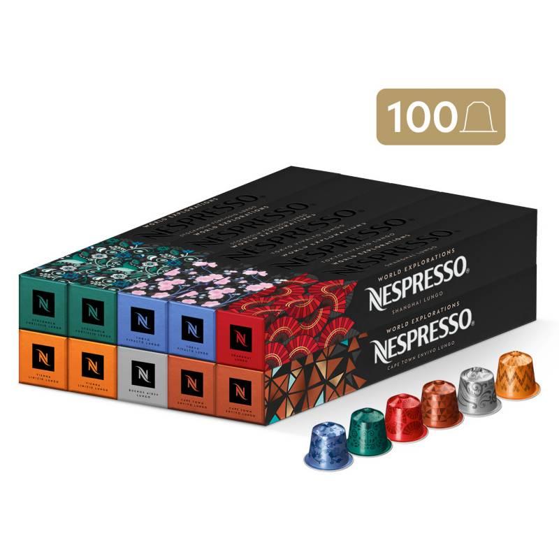 NESPRESSO - Cápsulas De Café Pack Lungo World Explorations 100