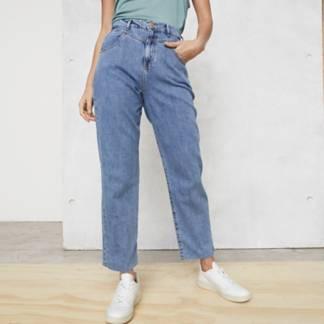 BASEMENT - Jeans Straight Tiro Alto Mujer