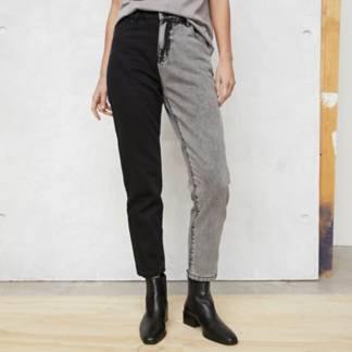BASEMENT - Jeans Mom Bitono Mujer