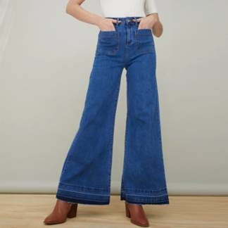 BASEMENT - Jeans Wide Leg&Nbsp; Tiro Alto Mujer