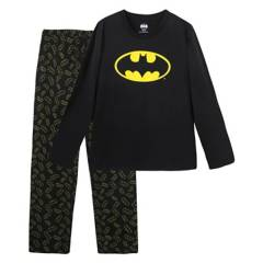DC COMICS - Pijama Ll Hombre Logo Batman Negro Dc Comics