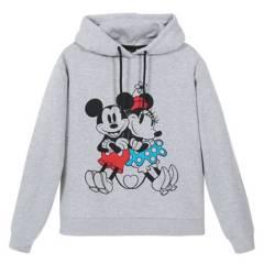 DISNEY - Poleron Mujer Mm Cy Gris Disney
