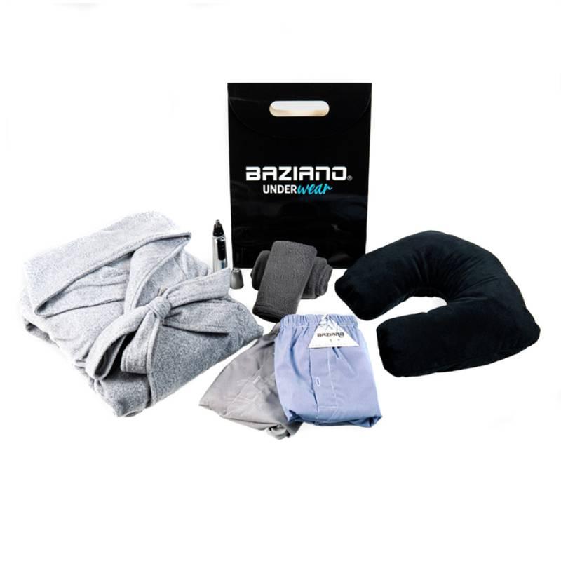 BAZIANO - Pack Día Del Padre Bata Polar Pack Boxer Más Sets