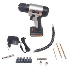 WORX - Taladro atornillador inalámbrico 10mm  12v 18 acc