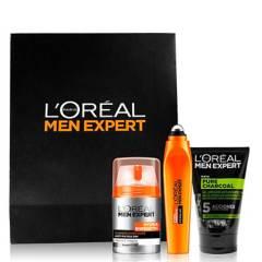 MEN EXPERT - Pack Hydra Energetic Men Expert: Crema Hidratante, Roll On Ojos y Pure Charcoal
