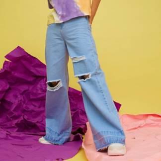 SYBILLA - Jeans Wide Leg Tiro Alto Mujer Tati Fernandez x Sybilla