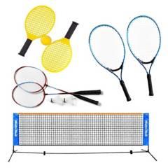 VADELL - Set de Juegos 3 en 1 : badminton voleibol y  tenn