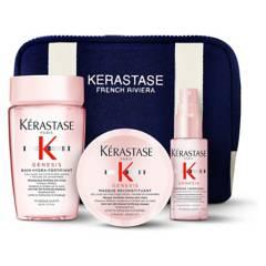 KERASTASE - Set Anti-Caída Genesis Bain Hydra-Fortifiant 80 ml + Masque 75 ml + Texturizante 45 ml + Estuche