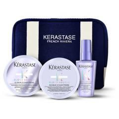 KERASTASE - Set Cabello Decolorado Blond Absolu Bain Cicaextreme 75 ml + Masque 75 ml + Aceite 50 ml + Estuche