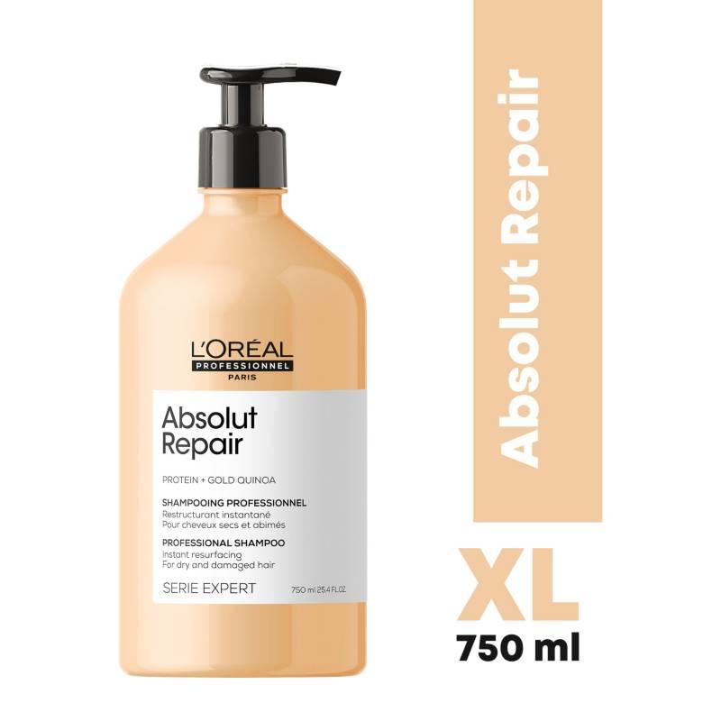 LOREAL PROFESSIONNEL - Shampoo XL Reparación Profunda Absolut Repair Serie Expert 750 ml