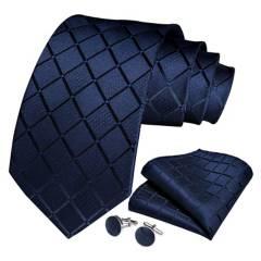 SONEC FASHION - Set Corbata Seda Hombre Paño Colleras. Sangre Azul