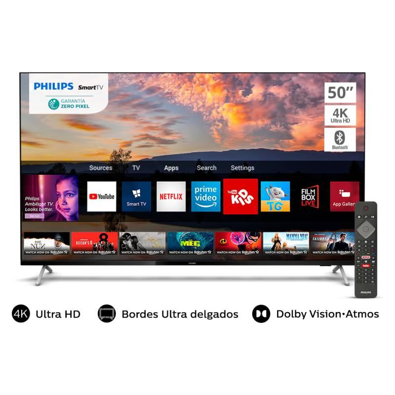 """PHILIPS - Led 50"""" 50PUD7625 4K Ultra HD Smart TV"""