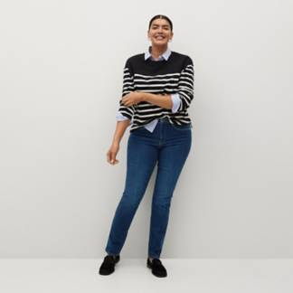VIOLETA BY MANGO - Jeans Slim Tiro Medio Susan Mujer