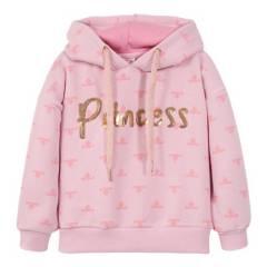 DISNEY - Poleron Niña Princesas Rosado Disney