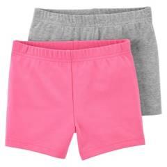 Carters - Short Tipo Calza Pack 2 Unidades Bebe Niña