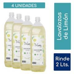 undefined - Pack 4 Lavalozas Limón biodegradable 2L