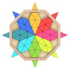 TOOKY TOY - Puzzle Mandala Para Niños Y Niñas De Madera