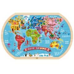 TOOKY TOY - Puzzle Mapa Del Mundo Prescolar 37 Pcs