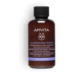 APIVITA - FACE CLEANSING Crema Espuma Limpiadora para Rostro y Ojos - Travel Size
