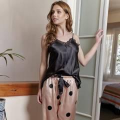 BAZIANI - Pijama mujer Satín largo