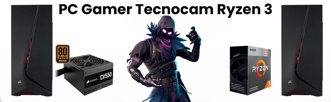 PC Gamer Tecnocam AMD Ryzen 3