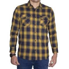HUSTLA - Camisa Leñador Hustla Manga Larga Amarillo