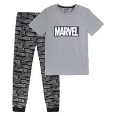 MARVEL - Pijama Hombre Top Logo Gris Marvel