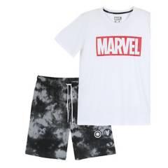 MARVEL - Pijama Hombre Blanco Marvel