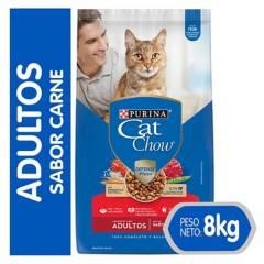 PURINA - Alimento Seco Para Gato Cat Chow Adulto Carne 8Kg
