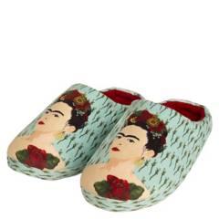 FRIDA KAHLO - Pantufla Mujer Celeste Frida Kahlo