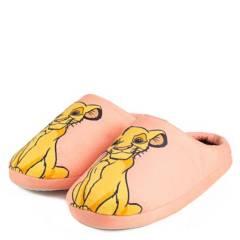 DISNEY - Pantufla Mujer Simba Rosado Disney