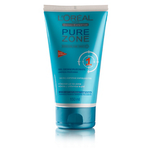 Gel Exfoliante Pure Zone 150 ml Paso 1