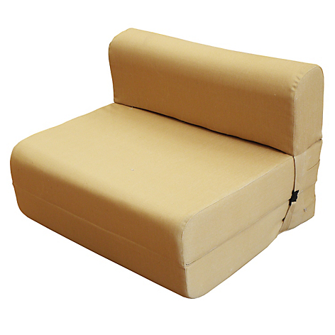 Sof cama 1 plaza azul for Sillon cama plegable goma espuma