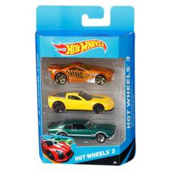 HOT WHEELS - Hot wheels pack de 3 autos