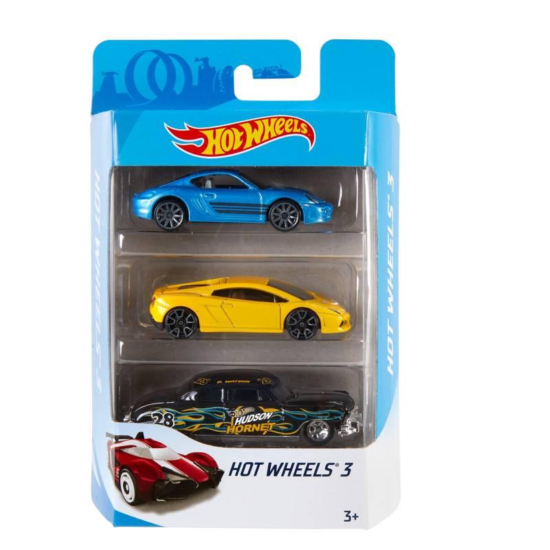 HOT WHEELS - Auto De Juguete Hot Wheels Paquete De 3 Autos